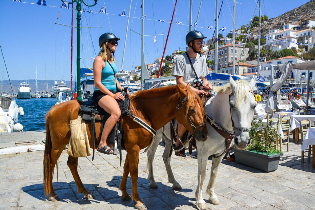 hydra horses, horse riding Greece , horse riding hydra